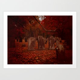 Green Cemetery-2 Art Print