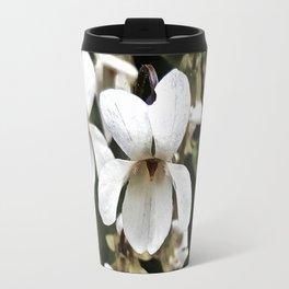 Wild White Violet; Take A Chance On Happiness Travel Mug