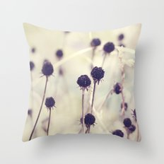 Charcoal stems Throw Pillow