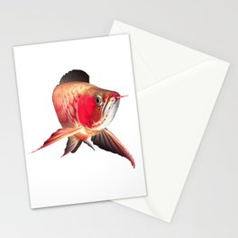 Super red arowana Stationery Cards