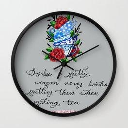 Pretty Teacups Wall Clock