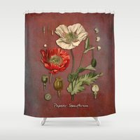 poppy Shower Curtains featuring Poppy by jbjart