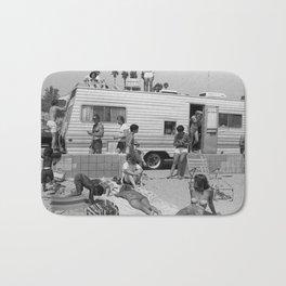 Vintage Camper Beach Bath Mat