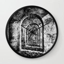 Monochrome Arches Wall Clock