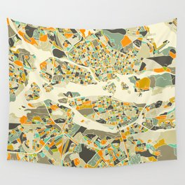 Stockholm MAP Wall Tapestry