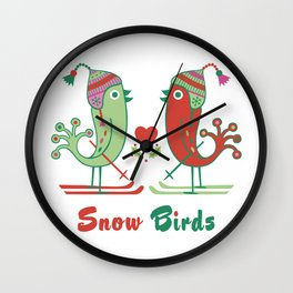 Snow Birds Wall Clock