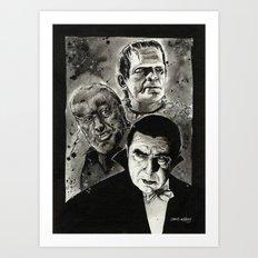 The Un-Holy Three Art Print