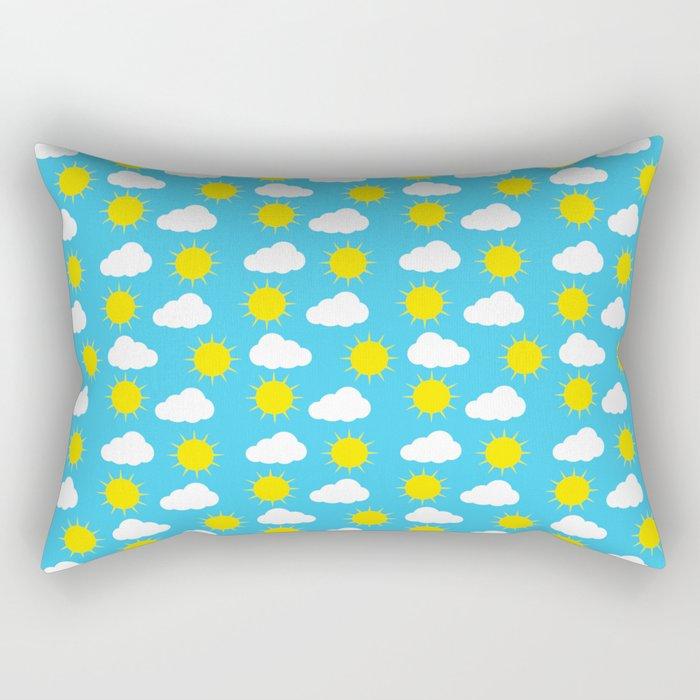 Sun & Clouds Rectangular Pillow