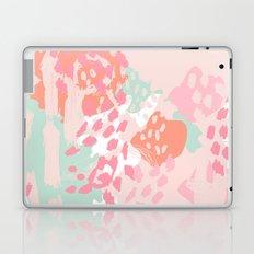 Billie - abstract gender neutral trendy painting soft colors bright happy nursery baby art Laptop & iPad Skin