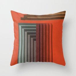 Stepped Retro Color Throw Pillow
