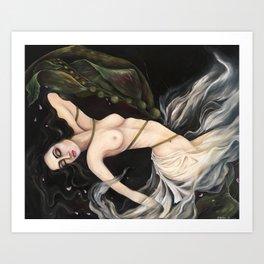 Entangled Mermaid Art Print