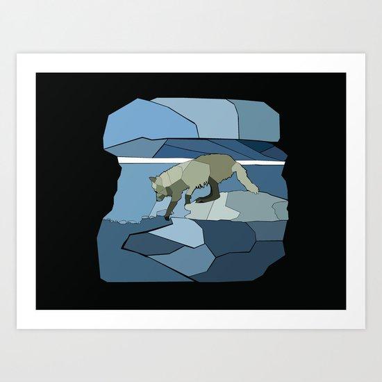 Artic Wolf Art Print