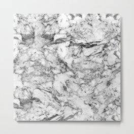 Elegant gray white modern marble texture patterns Metal Print