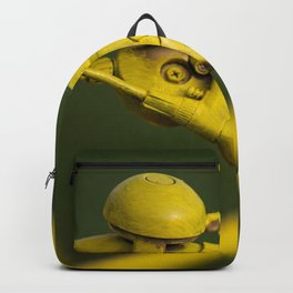 Abstract art, yellow painted bike in detail Backpack