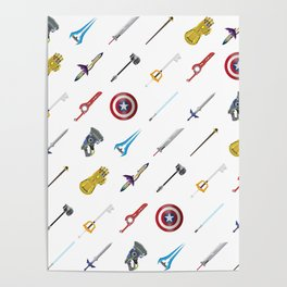 Fantasy Weapons Pattern Poster