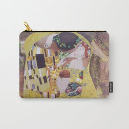 THE KISS COLLAGE. GUSTAV KLIMT. Carry-All Pouch