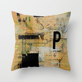 misprint 55 Throw Pillow
