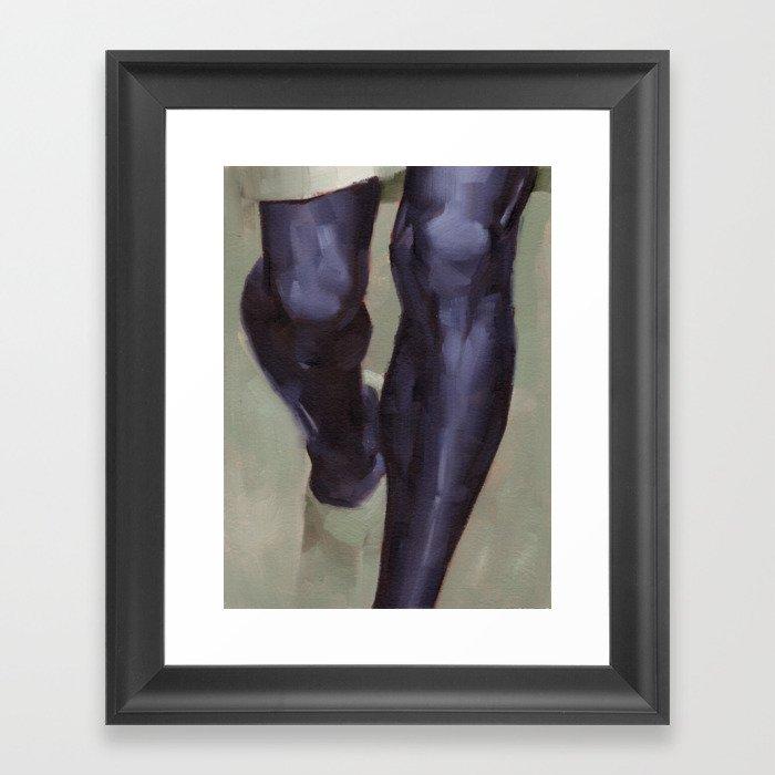 Knees Framed Art Print