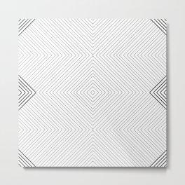 Stripe Geometric Diamond Metal Print