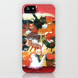 Huge Pile of Cats aka Pussy Galore in James Bond Goldfinger! iPhone Case