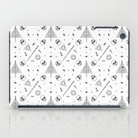 deathly hallows iPad Cases featuring Deathly Hallows (White) by Mírë