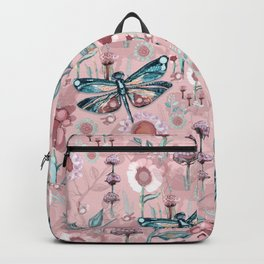 Rose Gold Dragonfly Garden | Pastel Backpack