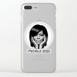 michelle obama 2020 Clear iPhone Case