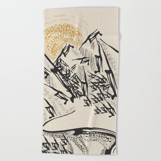 Rocky mountain Beach Towel