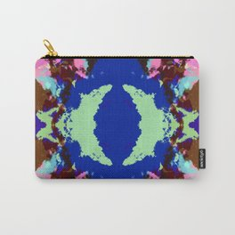 Abstract Pink & Funky Ink Blot Rorschach Butterfly Carry-All Pouch