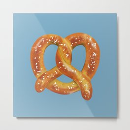 Pretzel Love Metal Print