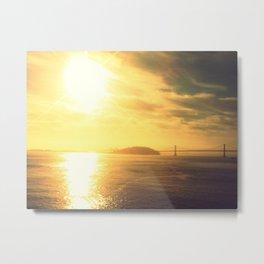Sunrise Bay Bridge Metal Print