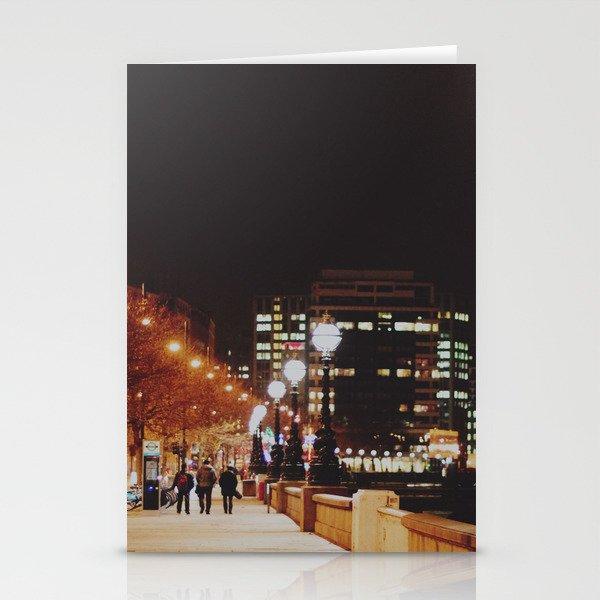 Night Stroll, London.  Stationery Cards