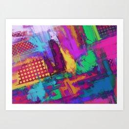 Urban angles Art Print