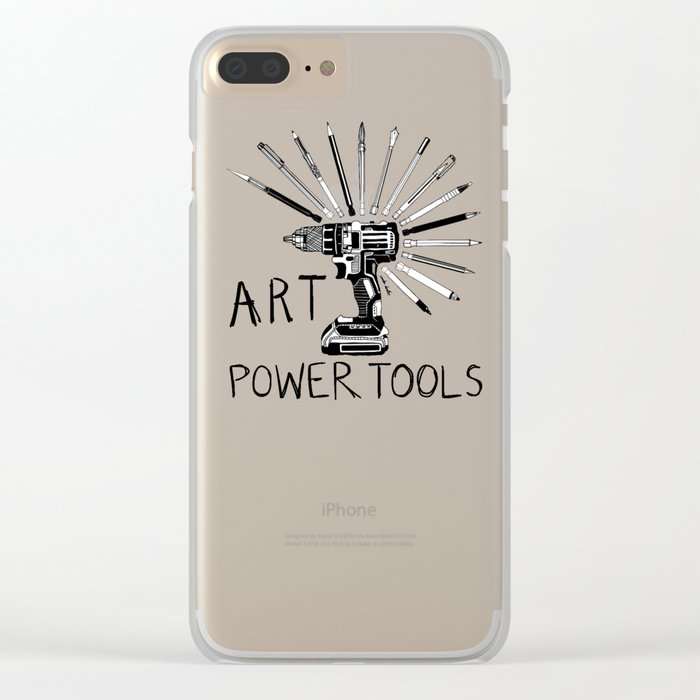 Art Power Tools Clear iPhone Case