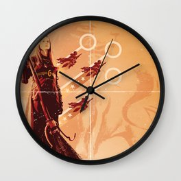 Follow Her to Victory Wall Clock