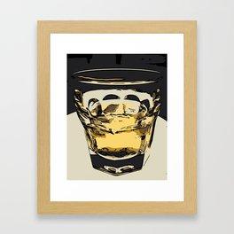 Whiskey/Jameson on the Rocks Framed Art Print