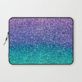Lavender Purple & Teal Glitter Laptop Sleeve