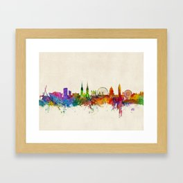 Belfast Northern Ireland Skyline Framed Art Print