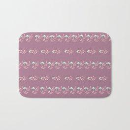 Rose Petal Pattern Bath Mat