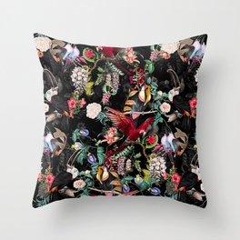 Floral and Birds IX Throw Pillow