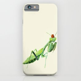 Mantis with a Fez iPhone Case