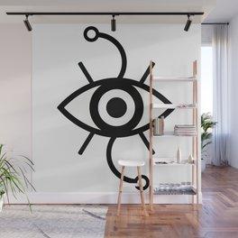 Wondering Eye (Black) Wall Mural