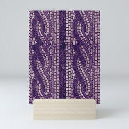stone tile 4378 ultra violet Mini Art Print