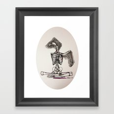 Mixed Media Drawing : Metamorphic Transition 1  Framed Art Print