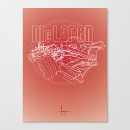 McLAren F1 RED Canvas Print