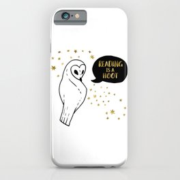 Reading is a Hoot - Gold iPhone Case