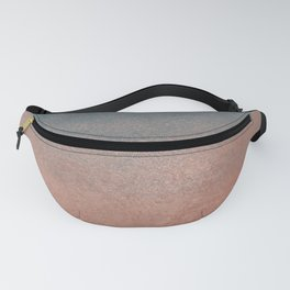 Abstract peacock blue coral ombre watercolor Fanny Pack