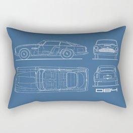 The DB4 Blueprint Rectangular Pillow