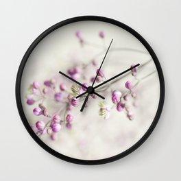Budding Blossoms Wall Clock