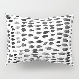 painted dots black Pillow Sham